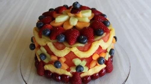 decorated watermelon cake