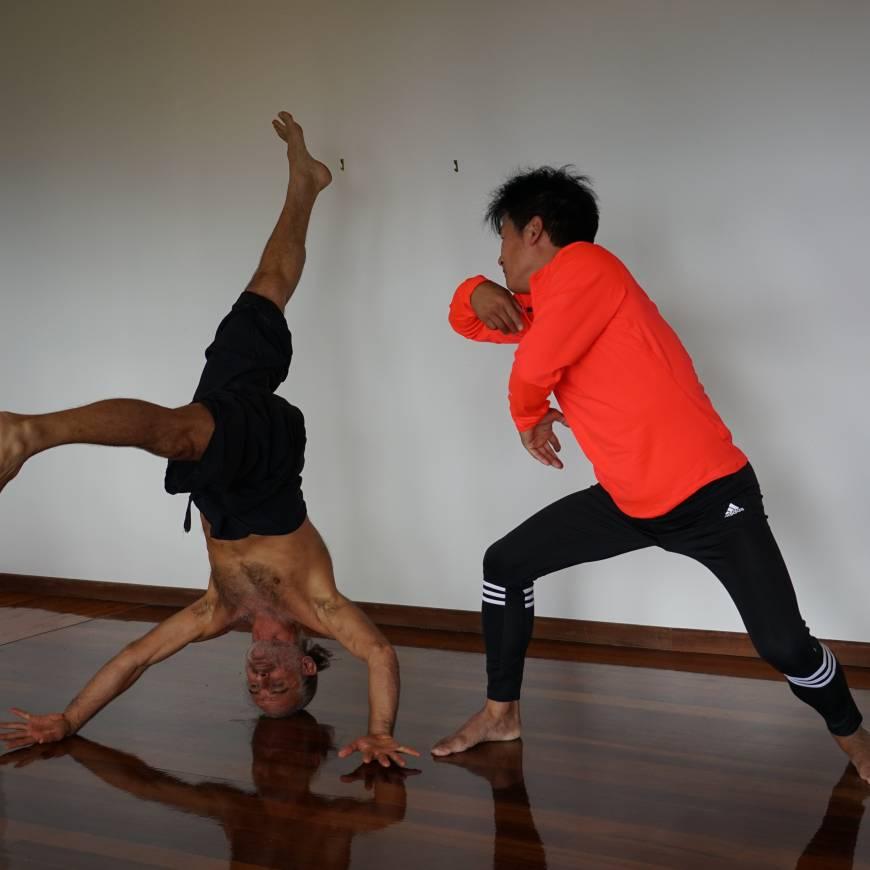 Master Yang és Simon Budapesten júniusban
